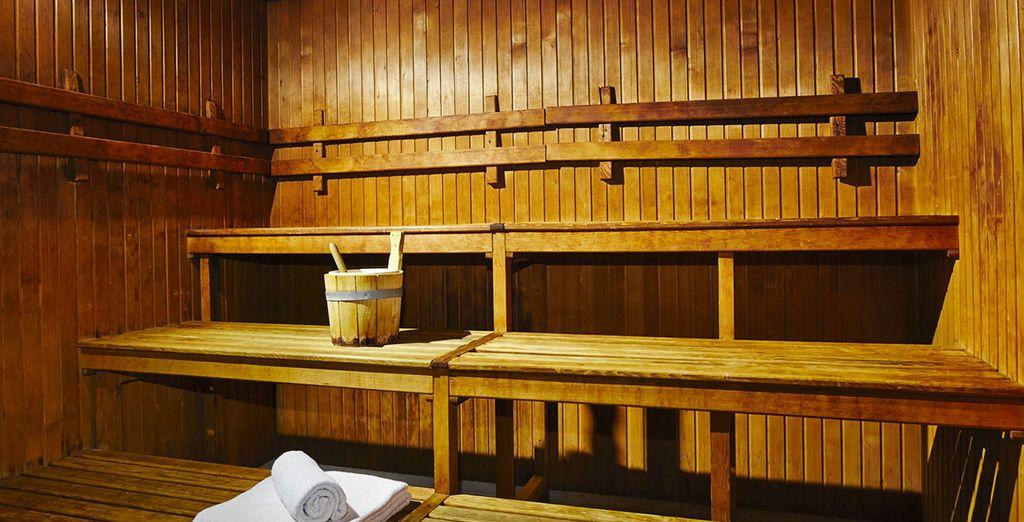 Vous pourrez vous délassez au sauna