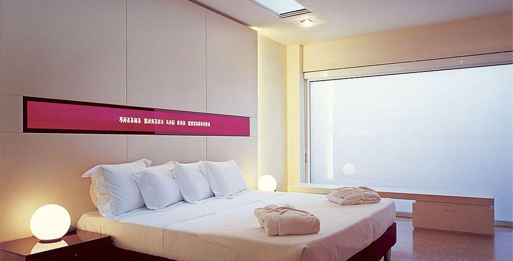 Aux chambres modernes et épurées