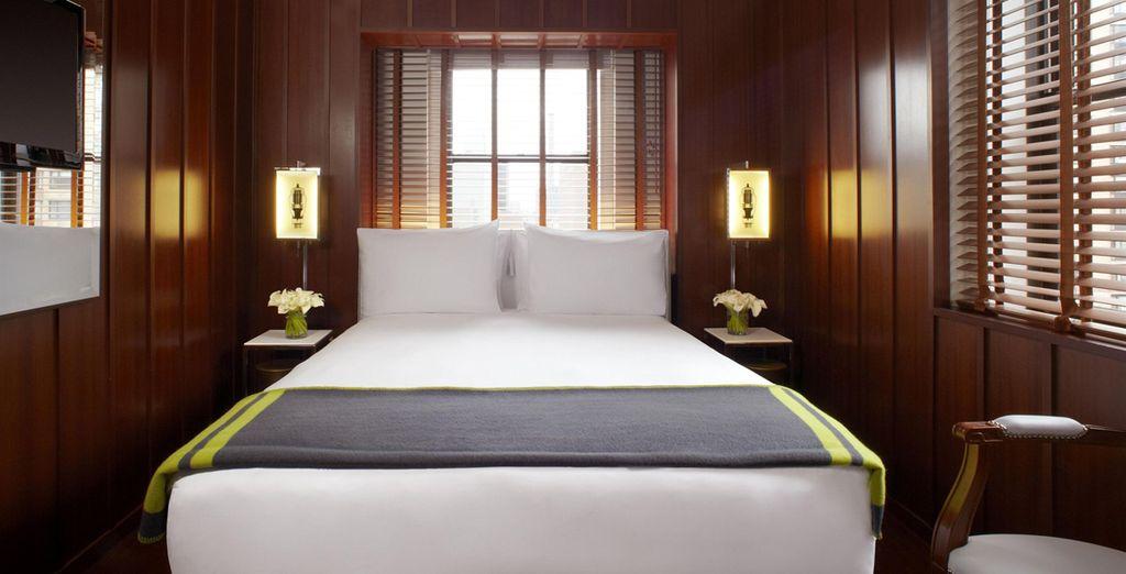 Installez-vous dans une chambre dont la décoration s'inspire du thème nautique
