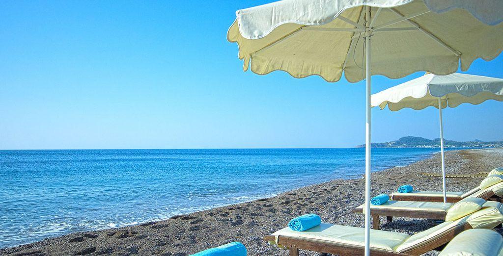 Ou d'un parasol au bord de la mer...