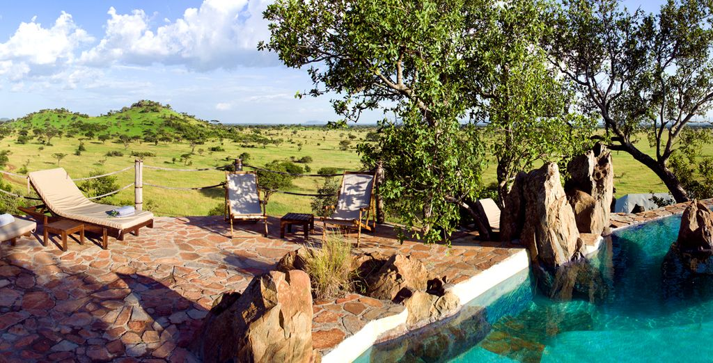 Hôtel de luxe tout confort, face aux paysages de la Tanzanie