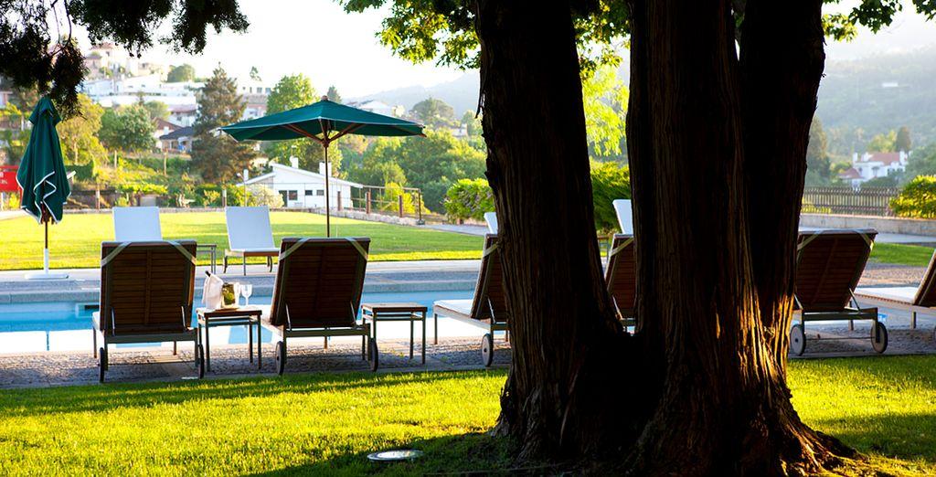 Tout comme les abords de la ravissante piscine de ce Relais & Chateaux