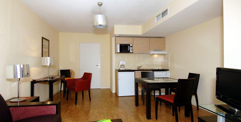 Installez-vous dans votre appartement 2 pièces...