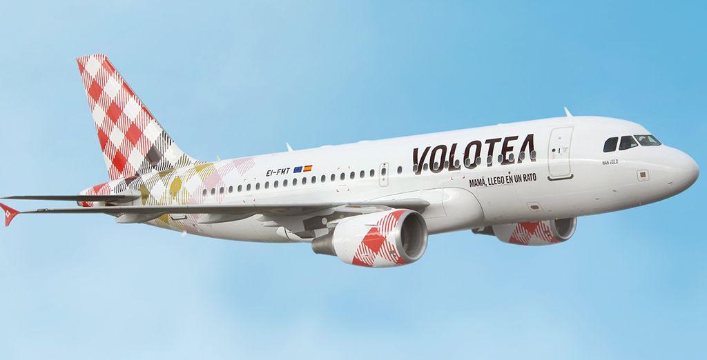 Profitez d'un vol avec Volotea au départ de la province...