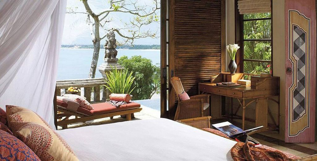 Dans votre One Bedroom Villa avec vue sur la mer...