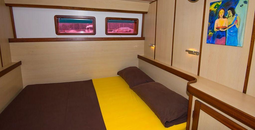 Votre cabine Standard vous offrira un confort optimal