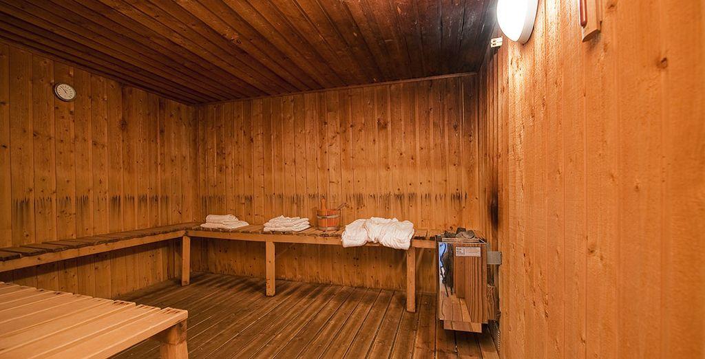 Détendez-vous dans le sauna après votre journée de ski