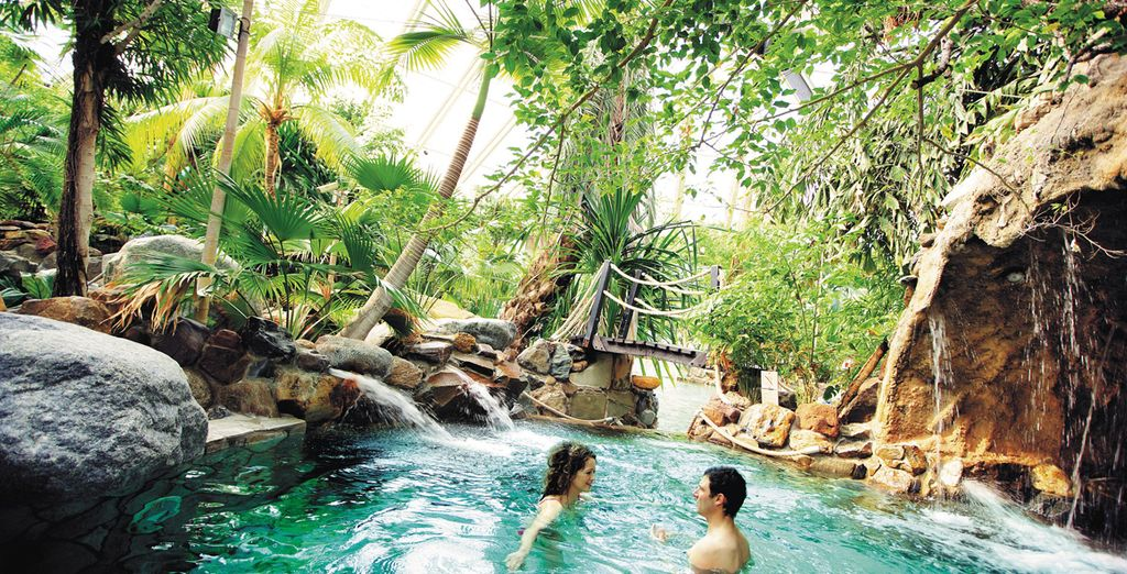 Comme au cœur de l'Aquamundo avec sa piscine chauffée toute l'année