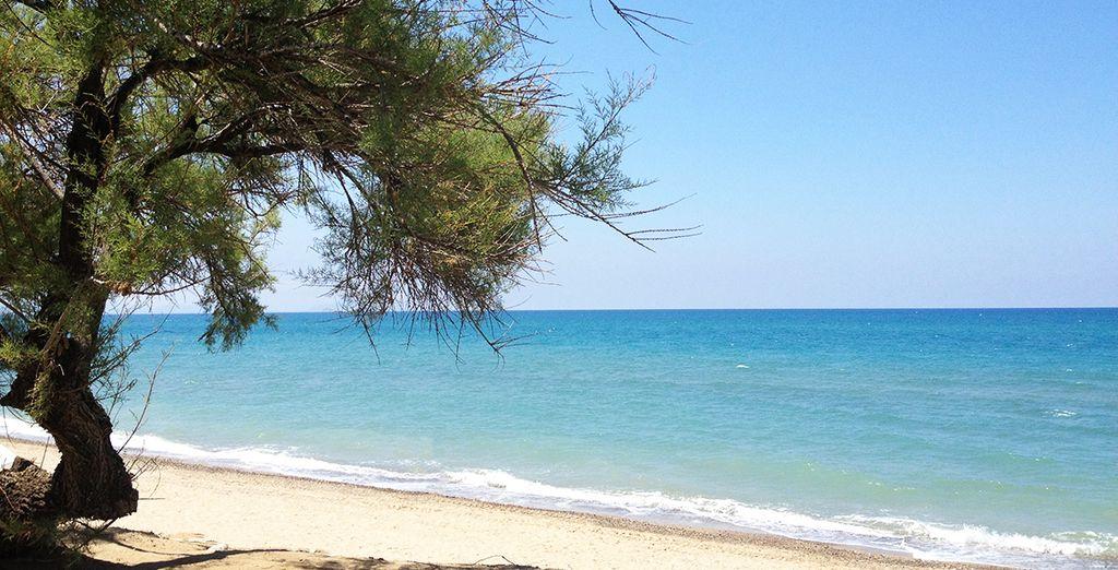 Avec sa plage bordée d'eaux turquoise en accès direct