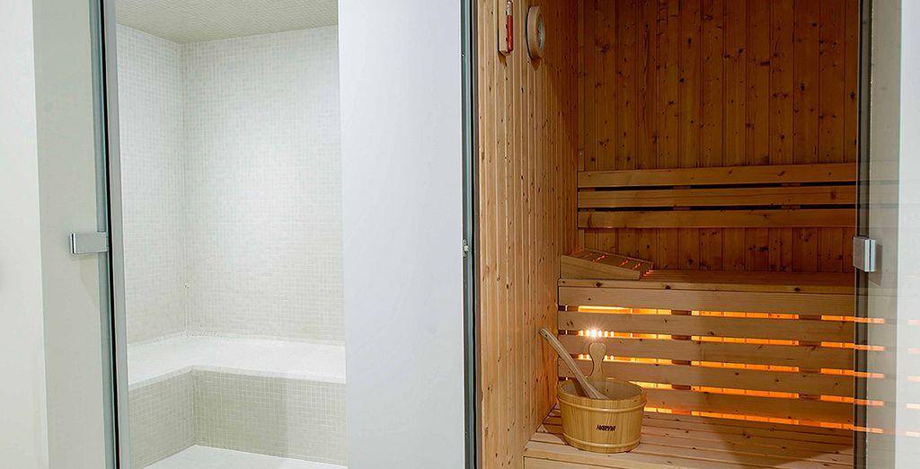 Détendez-vous dans le sauna