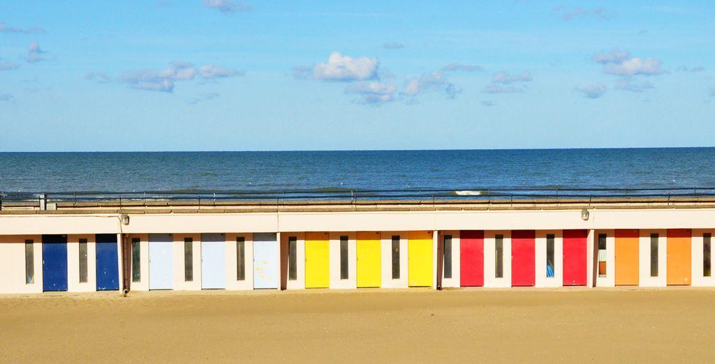 Et des plages typiques du Touquet Paris-Plage