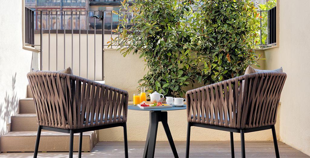 Et une terrasse privative