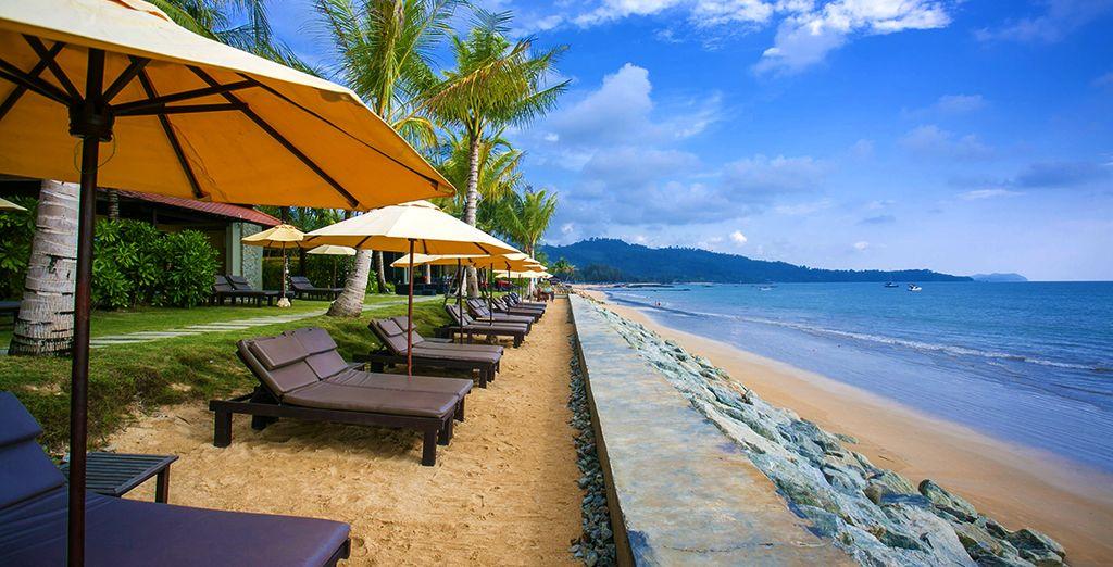 Au programme : détente au bord de la plage