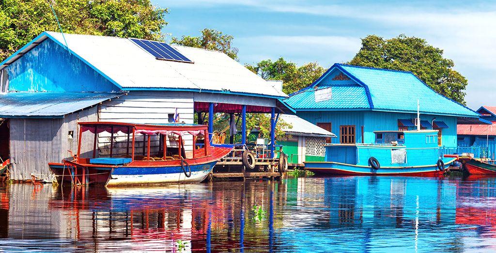 Et par les scènes de vie magiques au bord du lac Tonlé Sap