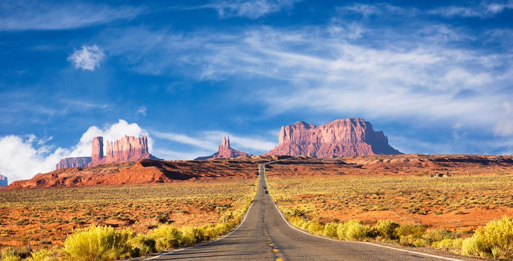 Photographie de la traversée du désert aux Etats-Unis