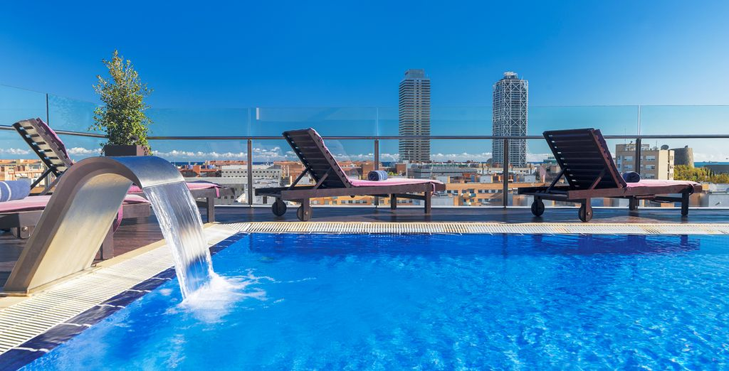H tel h10 marina barcelona 4 voyage priv jusqu 39 70 - Barcelone hotel piscine interieure ...