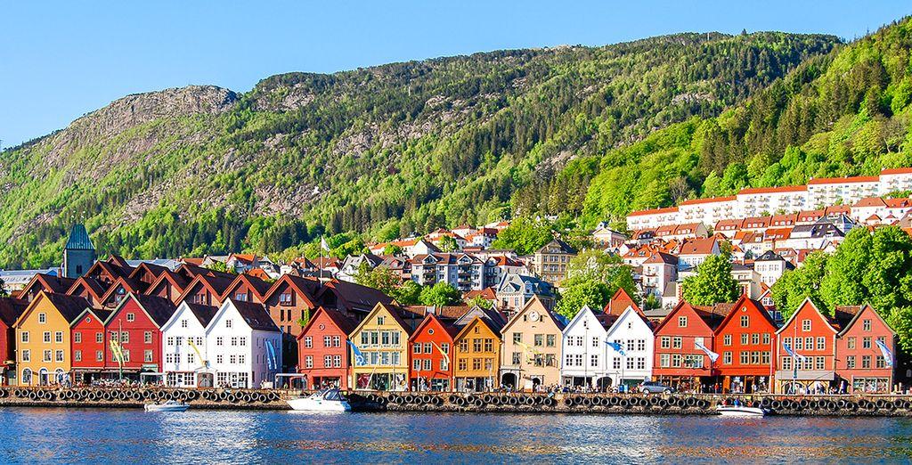 Photographie de la ville de Bergen, en Norvège
