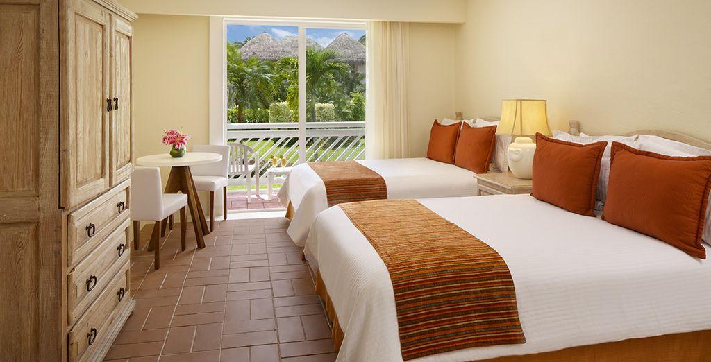 Poussez les portes de votre chambre Deluxe vue Jardin et découvrez un petit havre de paix !