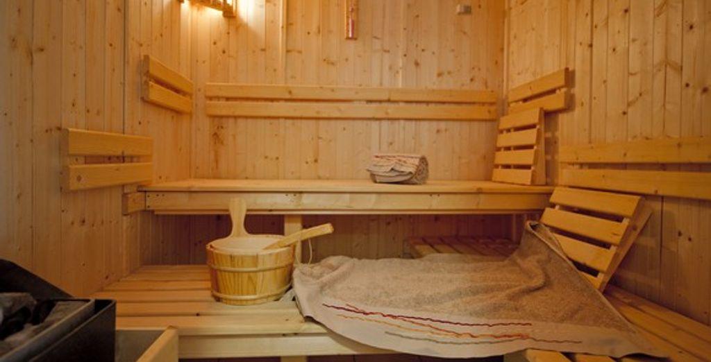 Faites une pause bien-être au sauna après de bonnes journées découvertes