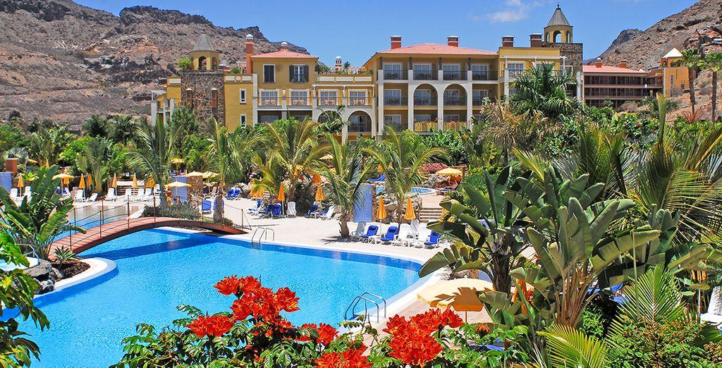Dans l'un des plus beaux hôtels de l'île !