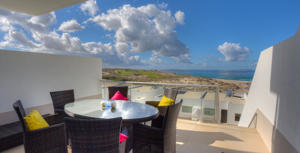 Vous apprécierez le balcon ou la terrasse
