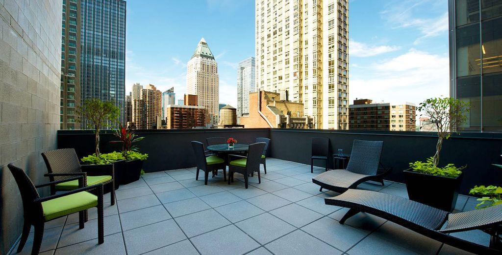 Rendez-vous sur la terrasse pour une pause détente bien méritée !
