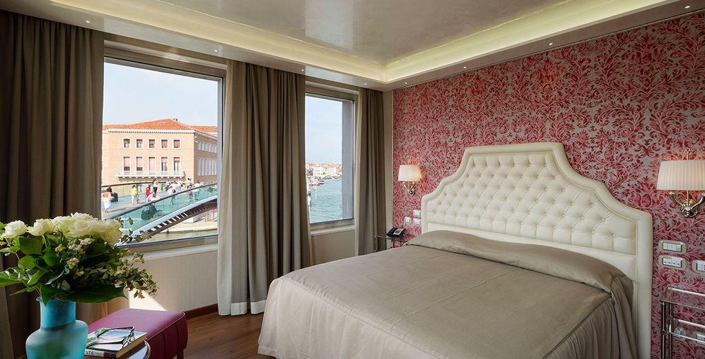 Ou en chambre Grand Deluxe, avec Vue sur le Grand Canal