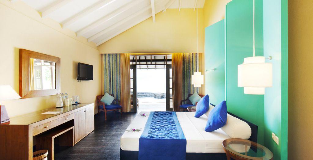 Confortablement installé dans votre spacieuse Beach Villa...