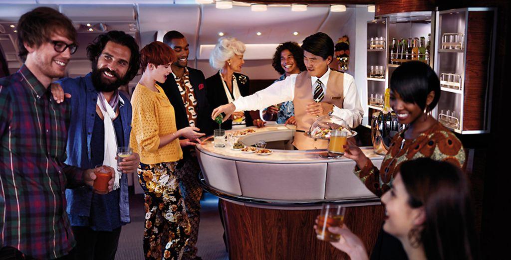 Un confort de vol exceptionnel et des services exclusifs vous attendent, dans les airs...