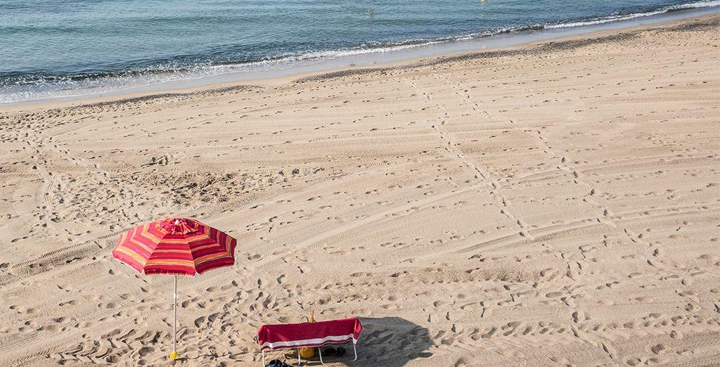 Vous ne serez qu'à 150 mètres de la plage de Rochelongue