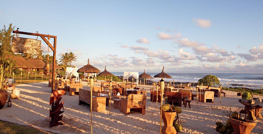 Et d'un restaurant insolite sur la plage : le Fish and Rhum Shack