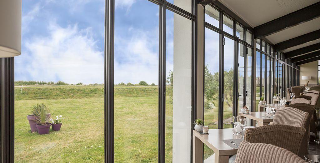 L'hôtel est une véritable fenêtre...