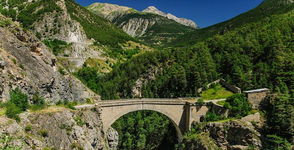Photographie des Alpes au cœur de la côte d'Azur