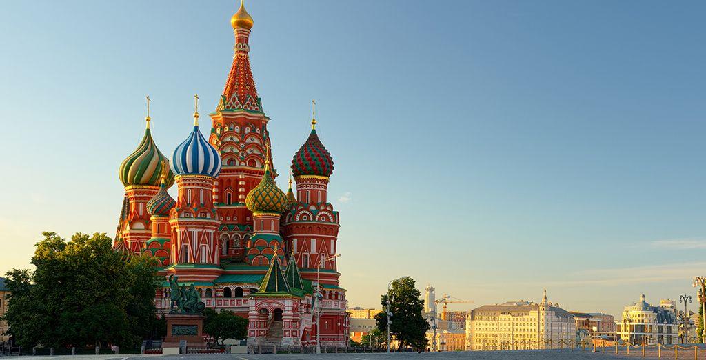 En passant par le fameux Kremlin...