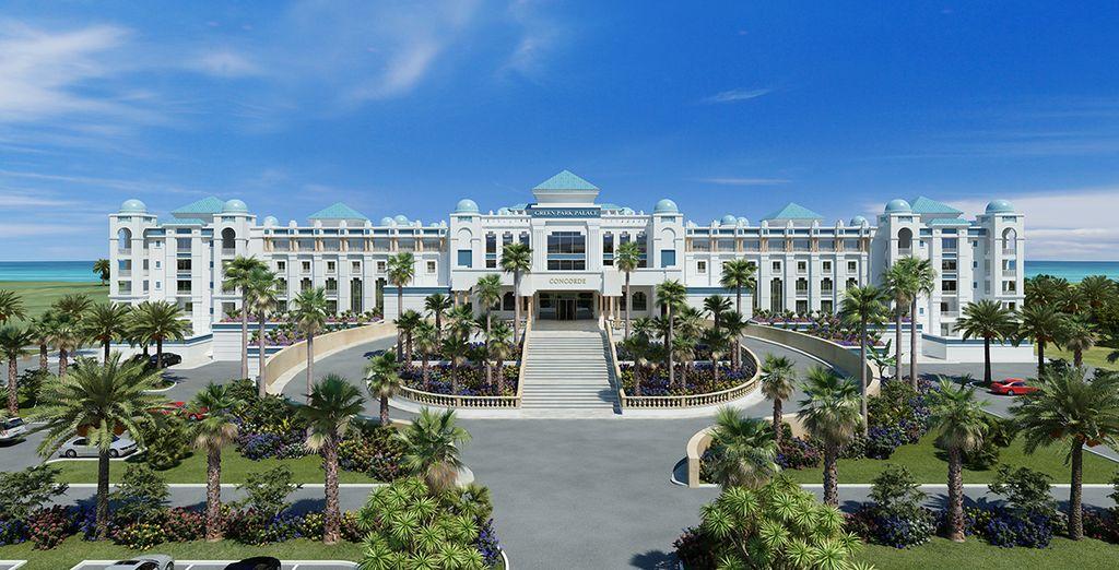 L'hôtel Concorde Green Park Palace, à l'architecture majestueuse