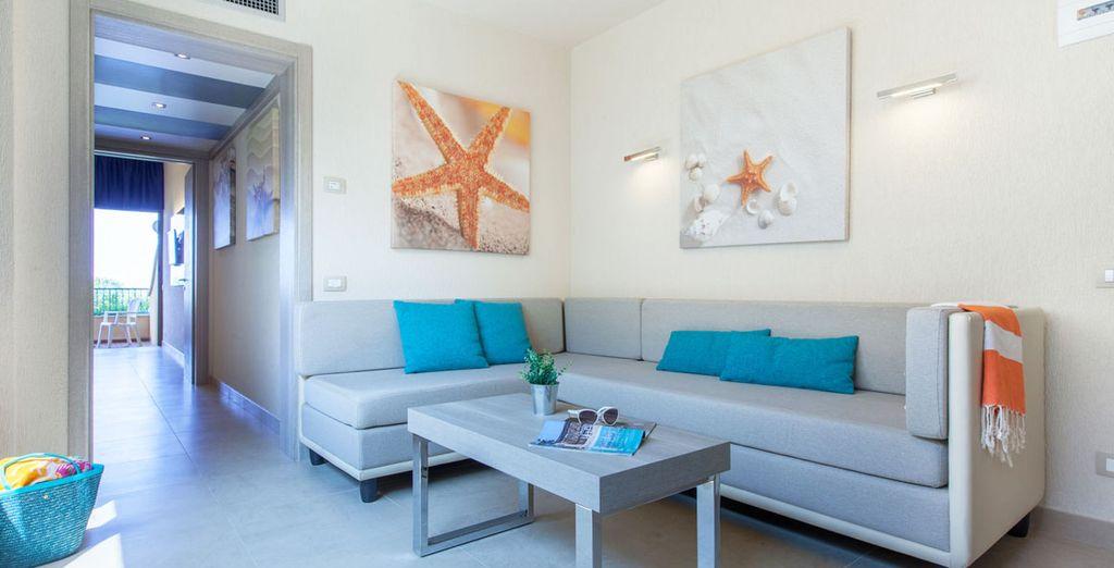 Et pour plus d'espace, choisissez la Junior Suite avec son salon et sa chambre séparée