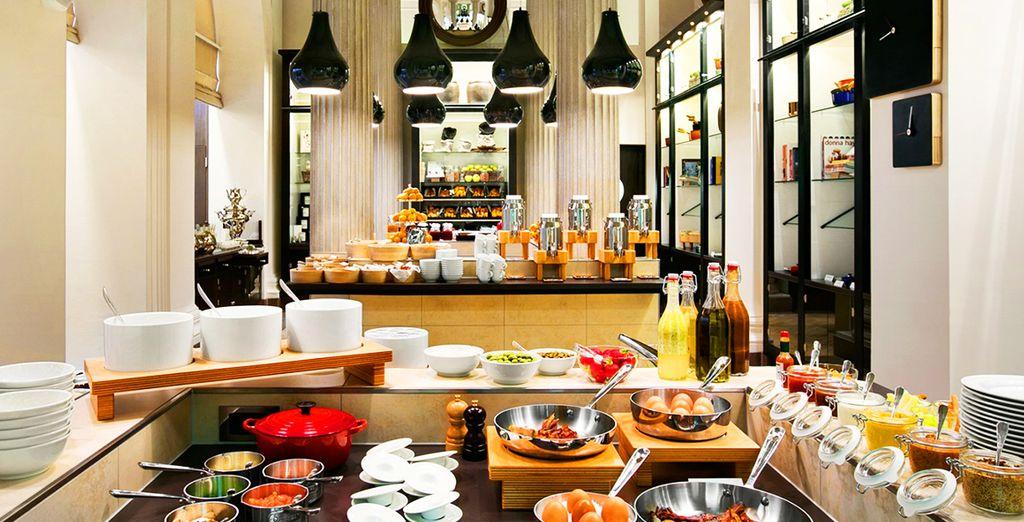 Le petit-déjeuner du Palais Hansen est réputé dans toute la ville...