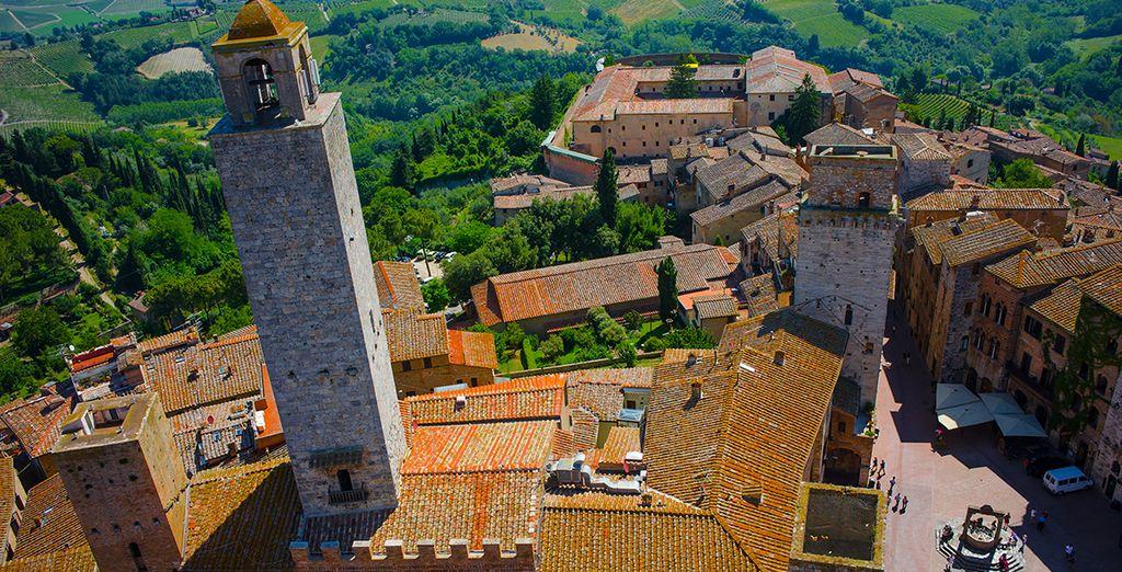 Près du village médiéval de San Gimignano