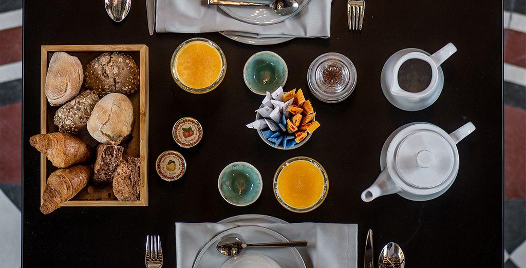Alors appréciez un délicieux petit-déjeuner buffet