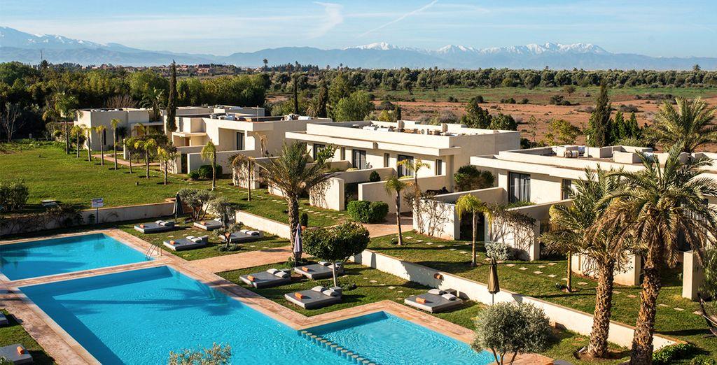 Au cœur de la Palmeraie face à l'Atlas - Hôtel Sirayane 5* Marrakech