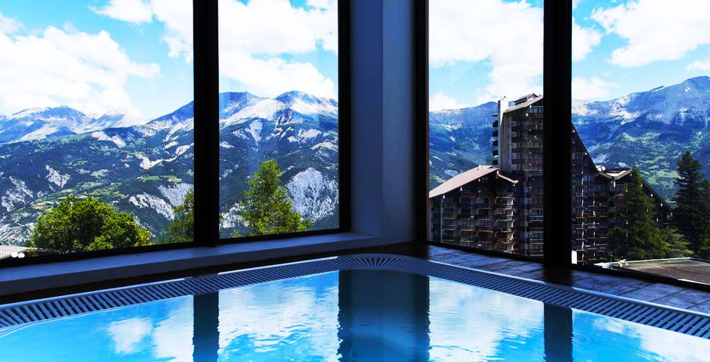 Avec une vue imprenable sur les montagnes...
