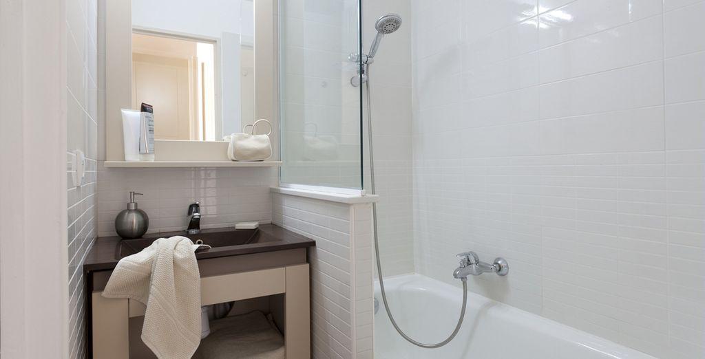 De la salle de bains...