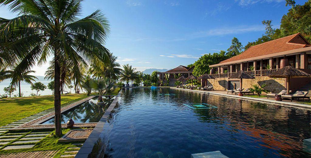 Tout en séjournant au Vedana Lagoon resort