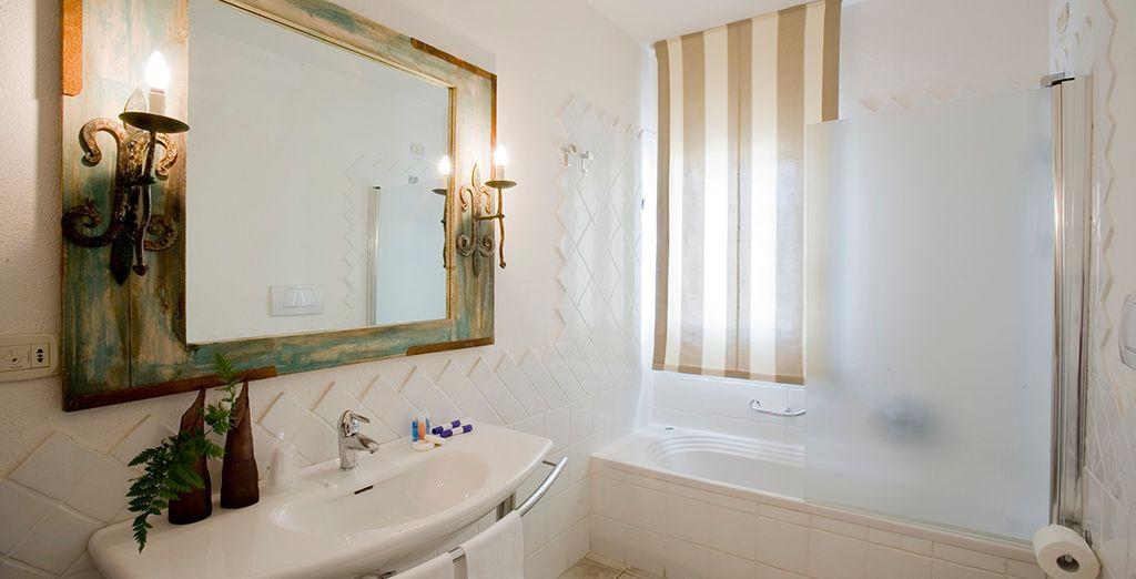 Dotée d'une salle de bain équipée