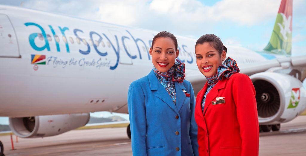 Pour encore plus de magie, optez pour un vol direct avec Air Seychelles