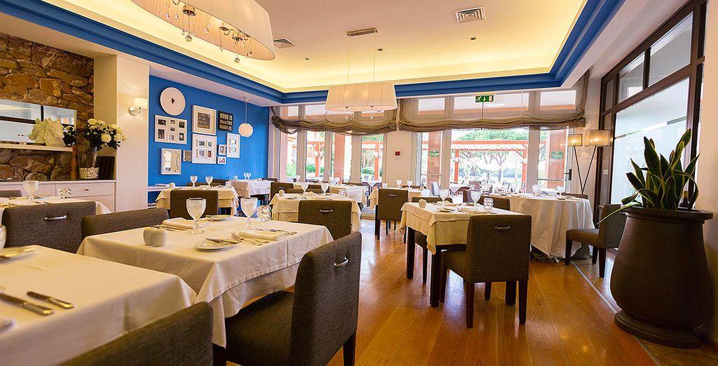 Ou savourez une cuisine gastronomique au restaurant Rocca
