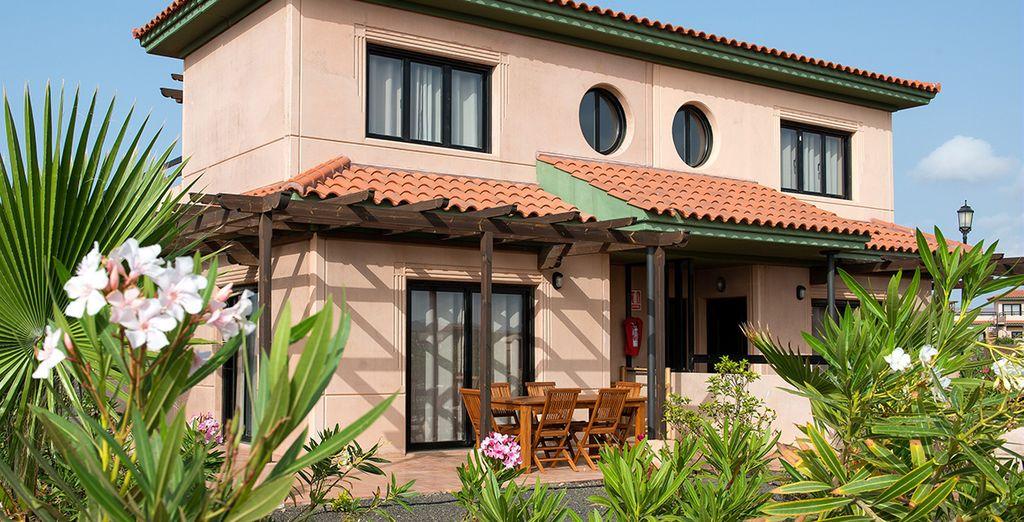 Rejoignez votre maison parfaitement intégrée au paysage naturel de l'île