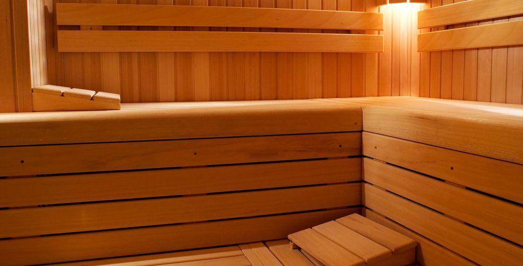 Et offrez-vous un instant de quiétude dans le sauna