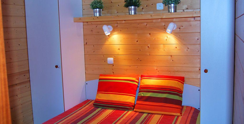Reposez-vous dans votre chambre chaleureuse et climatisée