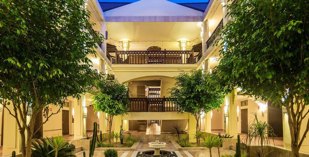 Un hôtel aux airs de conte des mille et une nuits...